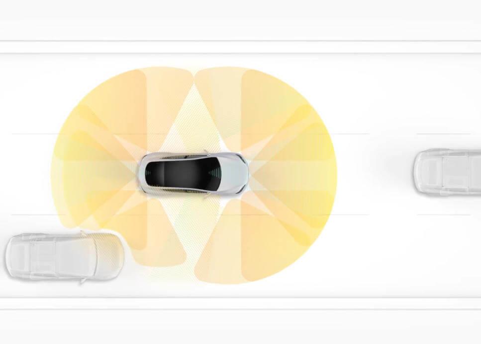 Tesla's Ultraschallsensoren